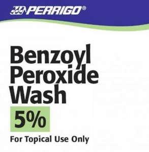 BENZOYL PEROXIDE LQ 5% 142GM WASH by PERRIGO PHARM CLAY PARK OTC