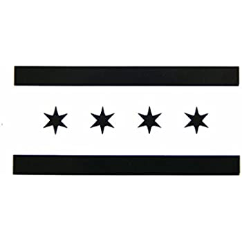 Amazoncom Chicago Illinois Flag Vinyl Car Bumper Window Sticker - Window stickers for cars chicago