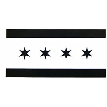 Amazoncom Chicago Illinois Flag Vinyl Car Bumper Window Sticker - Window stickers for cars chicago