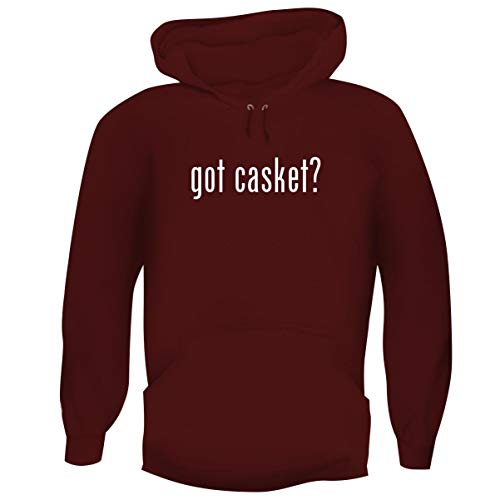 One Legging it Around got Casket? - Men's Funny Soft Adult Hoodie Pullover, Maroon, ()
