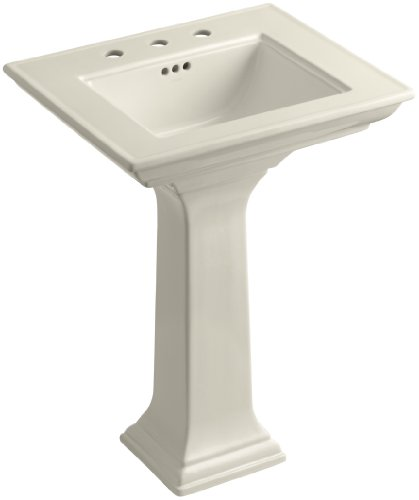 KOHLER K-2344-8-47 Memoirs Pedestal Bathroom Sink with Stately Design and 8