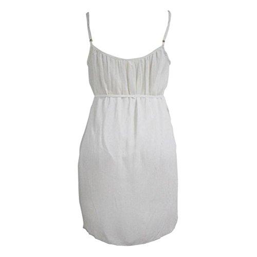 PU&PU Frauen-Strand-Bügel-Weste-Kleid V Ansatz Sleeveless Beachwear Cover-up Causal , white , s