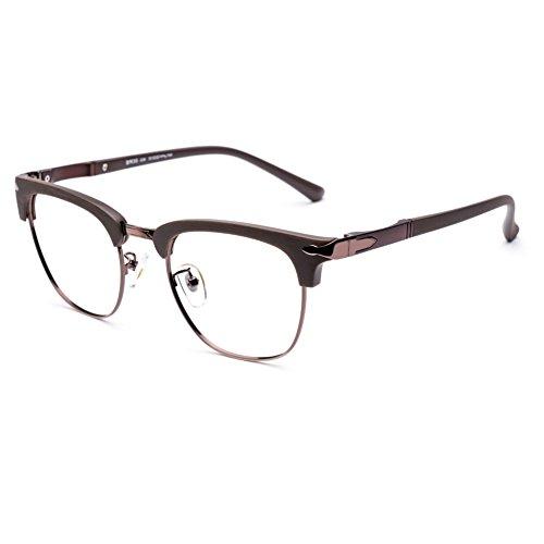 DONNA Popular Transparent Glasses Frames Non Prescription Spectacles Unbreakable DN35(Matte - Spectacles Unbreakable