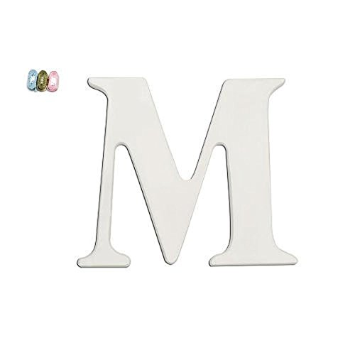 """Babies""""R""""Us M Wooden Personalizable Letter Wall Decor White – The Super Cheap"""