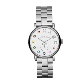 Marc by Marc Jacobs Women's MBM3420 Baker Analog Display Analog Quartz Silver-Tone Watch