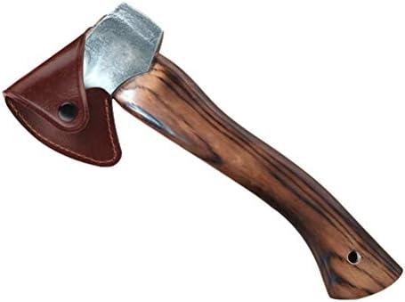 Retvi 斧ヘッドカバー レザー製 斧鞘 アックスヘッドカバー 取り付け簡単 滑り止め 耐摩耗性 シース保護 アウトドア用品 キャンプ用品 釣り