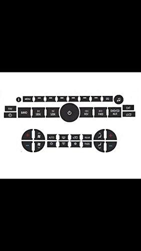 Ac A/c Panel (Worn AC Button and Radio Control Repair Kit Combo - Fits Chevy Tahoe Silverado Suburban Avalanche GMC Yukon Acadia Denali Buick Enclave Traverse SUVs and Trucks)