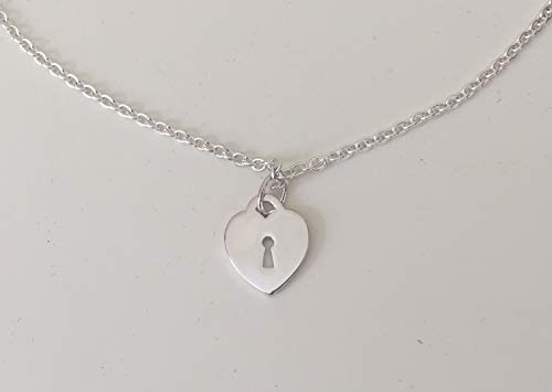 Avon Genuine .925 Sterling Silver Heart Charm Necklace 19