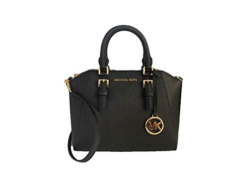 Michael Kors Ciara Medium Saffiano Leather Messenger - Black