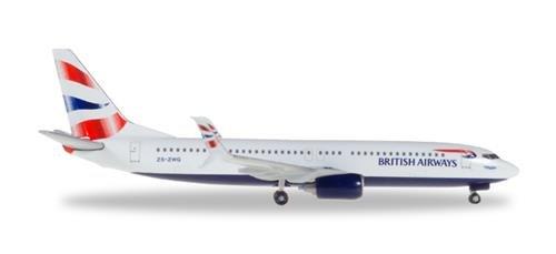 Herpa 530408British Airways Boeing 737-800-ZS ZWG Miniature Vehicle