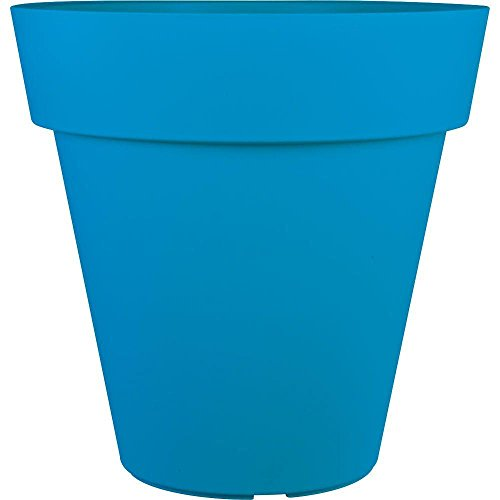 Gentil Pride Garden Products Mela 24 In. Round Blue Plastic Planter By Pride  Garden Products