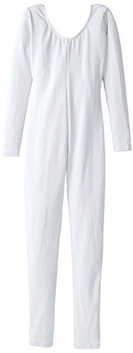 Capezio Long Sleeve Unitard - Girls - Size Child Medium, White ()