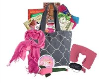 The Big Queasy Cancer Tote Gift Basket - Grey