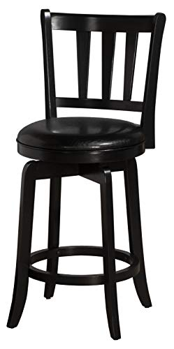 Hillsdale Presque Isle Swivel Counter Stool, Black Black Vinyl Swivel Counter Stool