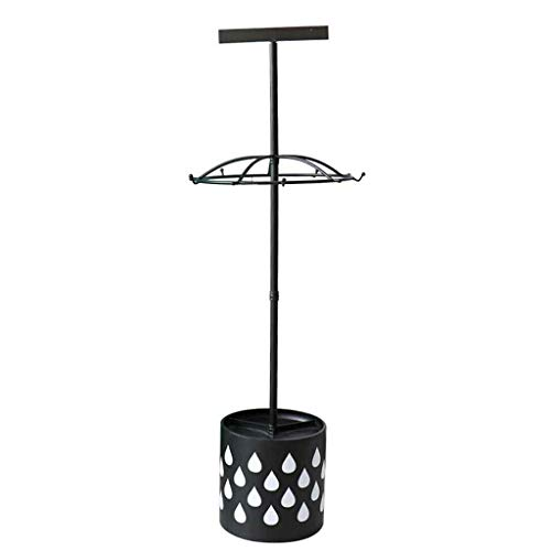 Bronze Finish Metal Coat Rack & Hat Stand with Umbrella Hold European Style Standing Metal Coat Hat Purse Rack with Umbrella Holder 10 Hook Roscloud@