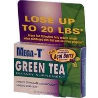 Mega-T, Green Tea with Acai Berry, 30 Caplets