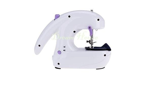 hellodd Portable Mini Máquina de coser eléctrica de escritorio ...