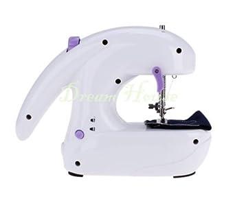 hellodd Portable Mini Máquina de coser eléctrica de escritorio mano Home Sartorius, funciona con pilas, herramientas de costura de costura recta: Amazon.es: ...