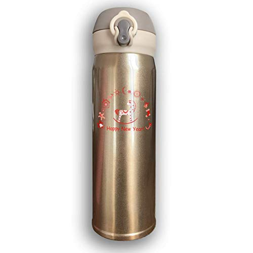 AUUOCC Bounce Cover Design Merry Christmas Trojan,Leak-Proof Vaccum Cup,Travel Mug With Stainless Water Bottle,Sports Drinking Bottle Fashion