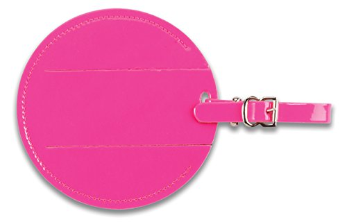 Lewis N Clark Round Neon Tag with Closed Security Flap, Pink, One Size