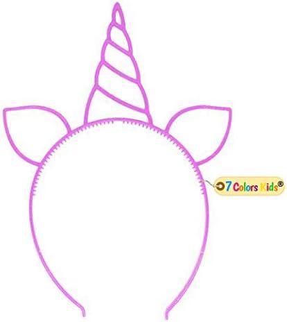 12 Pack Plastic Unicorn Headband Unicorn Party Supply Party Favor Girl Hair Accessory