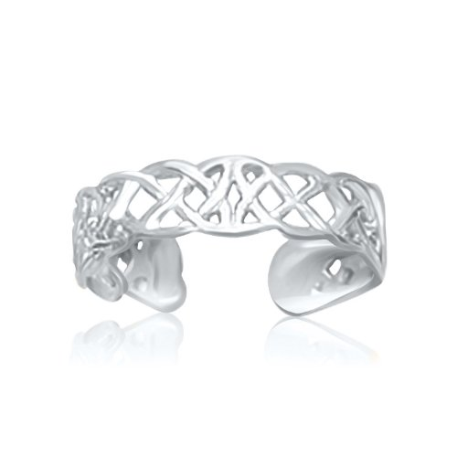 14k Toe Ring Celtic (Jewels By Lux 14K White Gold Toe Ring in a Celtic Knot Style)