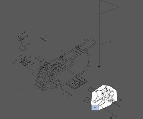 Polaris 2007-2018 Predator 50 SILVER SWING ARM-REAR 0453408-385 New (Oem Rear Swing Arm)