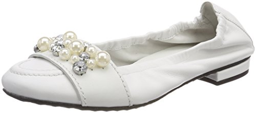 Pearl und Women's Toe Weiß 417 Ballet White Kennel Malu Closed Flats Schmenger wvEAF