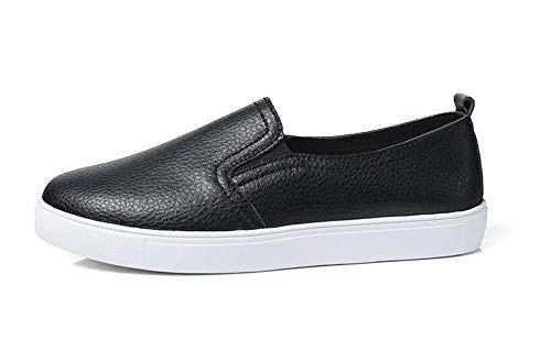 Women's Slip-on Loafers Flat Casual Driving Shoes Boat Shoes(Black 40/9 B(M) US Women)