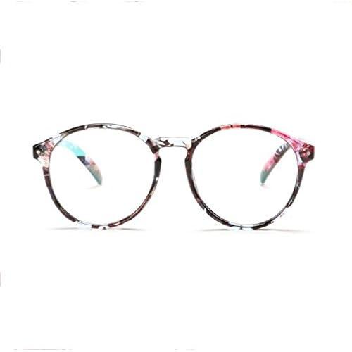 Z&YQ Lunettes clair lentille aviateur miroir simple lunettes rondes