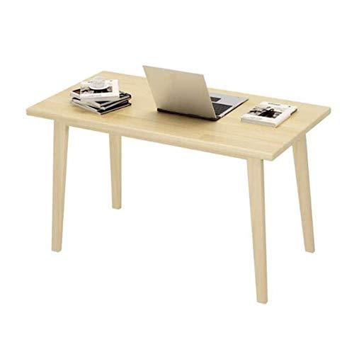 BH Mesas Muebles de Madera Escritorio de la computadora, Pino Macizo, Comedor Multifuncional (Tamano: 100x50x75cm)