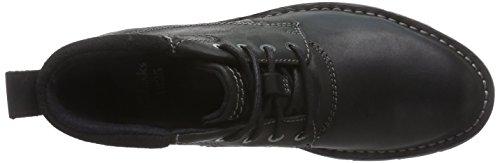 Clarks Varick Hill - botas de caño bajo de cuero hombre Negro (Black WLined Lea)