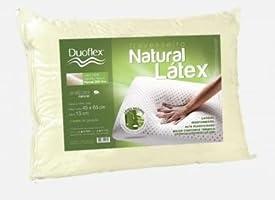 Travesseiro Natural Látex, Duoflex, 100% algodão, Branco, para fronha 45cmx65cm