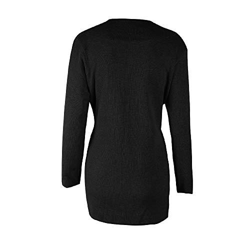 Lungo Giacche Maglione Black Lunga Cappotto Donna Outwear Solid Pullover Casual Casuali Morwind Autunno Manica Inverno Sportiva Tuta E Donne qg8xCB