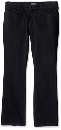 NYDJ Women's Plus Size Petite Billie Mini Bootcut Jeans, Black, 14WP