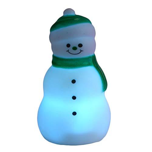 Fun World Color Change Led Snowman Christmas Table Decoration, 3.5
