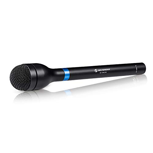 Newest Sevenoak BY-HM100 Omni-Directional Wired Handheld Dynamic Microphone XLR Long Handle for ENG & Interviews & News Gathering and Report