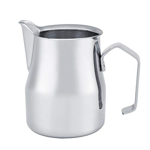 1mm Thickness Inner Cup Wall, Milk Frothing Jug, Stainless Steel Material, Milk Frothing Pitcher, for Home Frothing Milk…