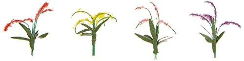 "Flower Plants 3/8"" 12/Pkg-Red/Pink/Yellow/Purple"
