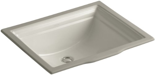 KOHLER K-2339-G9 Memoirs Undercounter Bathroom Sink, Sandbar (Lavatory Basin G9 Memoirs)