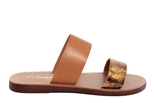 RI-BELLE - Sandalias de Piel para mujer marrón Bronce