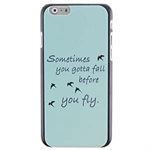 Mini - Birdie Pattern PC Hard Cover for iPhone 6