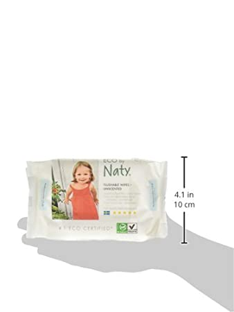 ECO by Naty Baby Wipes, Unscented, 3 Counts of 56 (168 Count) Naty SE 245050