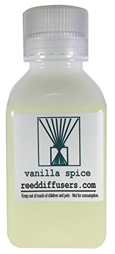 Vanilla Spice Fragrance Reed Diffuser Oil Refill - 8oz - Made in the USA