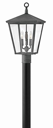Hinkley 1431DZ Transitional Three Light Outdoor Post Top/ Pier Mount from Trellis collection in Bronze/Darkfinish, (Mount Hinkley Outdoor)