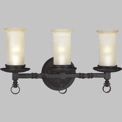 754-80 3-Light Bath Bracket, Forged Black ()