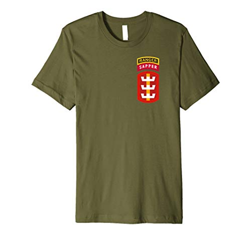 130th Engineer Brigade Shirt - 130th EN Ranger Sapper Tab OD ()