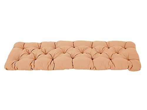 Ambientehome 3er Sitzkissen Bank Evje, beige, ca 150 x 50 x 8 cm, Polsterauflage, Bankauflage