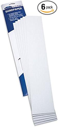 Eastwood Contour 2.75 X 16.5 Psa Sandpaper File Sheets 120 Grit Coarse Cut Pack of 6