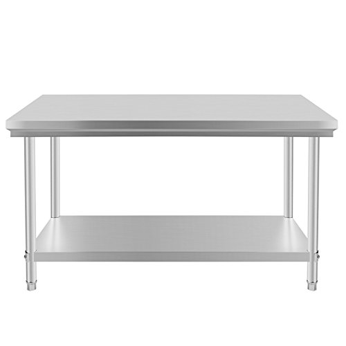 VEVOR NSF Stainless Steel Work Table 48 x 30 Inches Prep Work Table for Commercial Kitchen Restaurant (48 x 30 Inches) (Restaurants Tables compare prices)